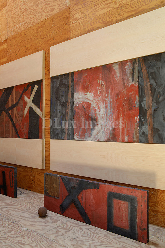 Installation of paintings