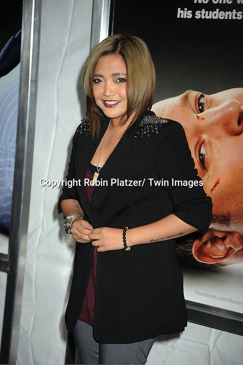 """actress Charice attends the World Premiere of """"Here Comes The Boom"""" on October 9, 2012 at AMC Lincoln Square in New York City. The movie stars Kevin James, Salma Hayek, Henry Winkler, Bas Rutten, Chaarice. Greg Germann, Bas Rutten, Frank Coraci  and Gary Valentine."""