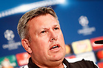 Leicester City FC's coach Craig Shakespeare in press conference before training session. April 11, 2017.(ALTERPHOTOS/Acero)