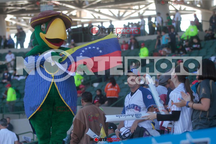 mascota de Venezuela.durante el juego de la Serie del Caribe 2013  de Beisbol,  Venezuela vs Republica Dominicana,  el 1 de febrero de 2013  en el Estadio Sonora..©(foto:Baldemar de los Llanos/NortePhoto)