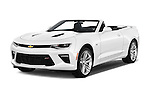2016 Chevrolet Camaro 2SS 2 Door Convertible Angular Front stock photos of front three quarter view
