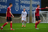 Liam Cullen of Swansea City u23s' celebrates scoring his side's fifth goal during the Premier League 2 Division Two match between Swansea City u23s and Middlesbrough u23s at Swansea City AFC Training Academy  in Swansea, Wales, UK. Monday 13 January 2020.