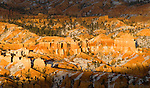 Hoodoos, as seen  from Inspiration Point, Bryce Canyon National Park, Utah, USA, December 7,  2007.  Photo by Gus Curtis.
