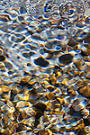 Light and shadow on ripples in a shallow section of the Sol Duc River, Olympic National Park, USA