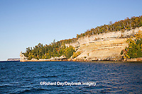 64745-00117 Pictured Rocks National Lakeshore in fall from Lake Superior near Munising MI