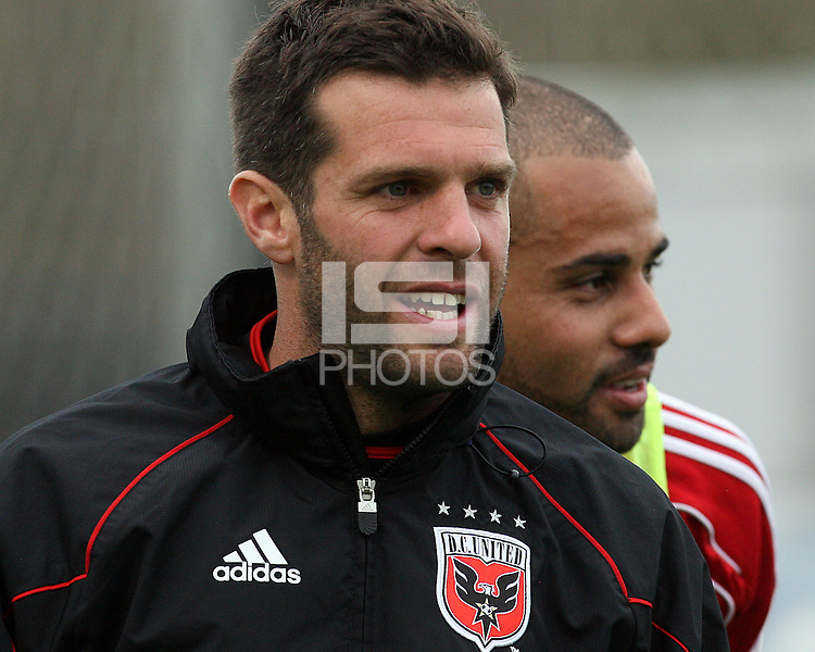 Ben Olsen and Fred#27 of D.C. United during a second round match of the Carolina Challenge against the Chicago Fire on March 9 2011 at Blackbaud Stadium, in Charleston, South Carolina. D.C. United won 1-0.