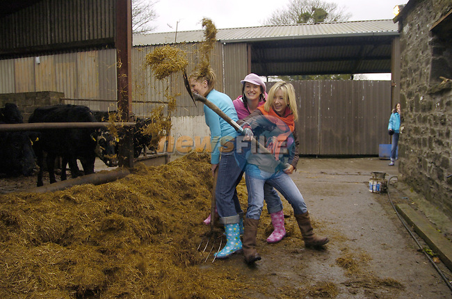 10th February, 2007. Organised hen parties (human ones) run by Deirdre Murtagh at her farm, Causey Farm, Kells, County Meath. Photo: BARRY CRONIN/Newsfile.(Photo credit should read BARRY CRONIN/NEWSFILE)