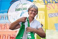 Il neo segretario aggiunto della CISL Annamaria Furlan<br /> Roma 30-09-2014 Manifestazione dei metalmeccanici della Fim Cisl davanti a Montecitorio.<br /> Photo Samantha Zucchi Insidefoto