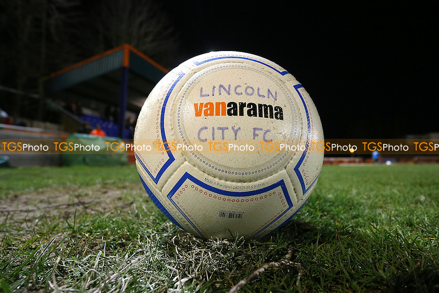 Lincoln City ball on the pitch during Braintree Town vs Lincoln City, Vanarama National League Football at the IronmongeryDirect Stadium on 7th March 2017