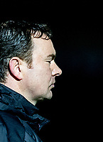 Plymouth Argyle Manager Derek Adams closed eyes during the Sky Bet League 2 match between Wycombe Wanderers and Plymouth Argyle at Adams Park, High Wycombe, England on 14 March 2017. Photo by Kevin Prescod / PRiME Media Images.