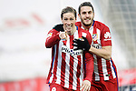 Atletico de Madrid's Fernando Torres (l) and Koke Resurrecccion celebrate goal during La Liga match. February 14,2016. (ALTERPHOTOS/Acero)