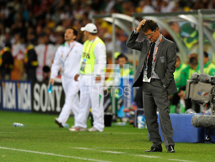 England Manager Fabio Capello looks frustrated