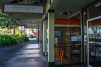 Stores along the waterfront, King Kamehameha Avenue, downtown Hilo, Big Island of Hawai'i.