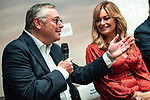 Michael Robinson and Monica Marchante during the presentation of the strategic alliance between Movistar and Laliga<br /> October 4, 2019. <br /> (ALTERPHOTOS/David Jar)