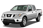 Front three quarter view of a 2009 Nissan Frontier Crew Cab SE.