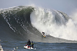 Mavericks waves in Half Moon Bay.