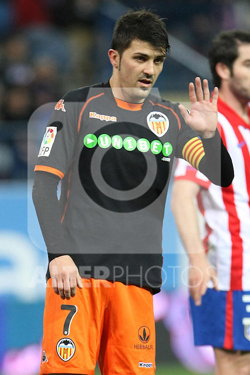 Valencia's David Villa during La Liga match.(ALTERPHOTOS/Acero)