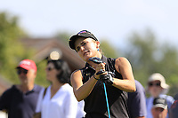 Lexi Thompson (USA) tees off the 6th tee during Thursday's Round 1 of The Evian Championship 2018, held at the Evian Resort Golf Club, Evian-les-Bains, France. 13th September 2018.<br /> Picture: Eoin Clarke | Golffile<br /> <br /> <br /> All photos usage must carry mandatory copyright credit (© Golffile | Eoin Clarke)