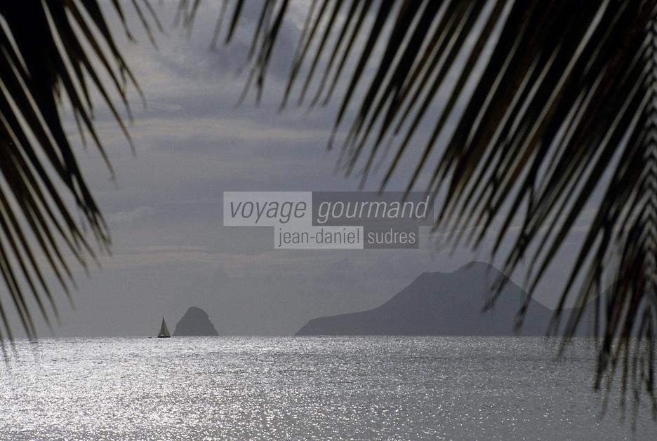 France/DOM/Martinique/Le Diamant/Grande Anse des Salines: Le rocher du Diamant