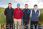 Donnagh Crowley (Rathmore), Liam Carmody (Ballybunion), Richard Casey (Killarney) and Liam Daly (Rathmore) taking part in the Pat Mulcaire Golf tournament in Ballybuinion on Saturday.