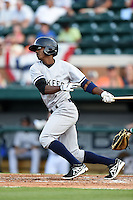 Tampa Yankees outfielder Claudio Custodio (6) during a game against the Lakeland Flying Tigers on April 3, 2014 at Joker Marchant Stadium in Lakeland, Florida.  Tampa defeated Lakeland 4-0.  (Mike Janes/Four Seam Images)