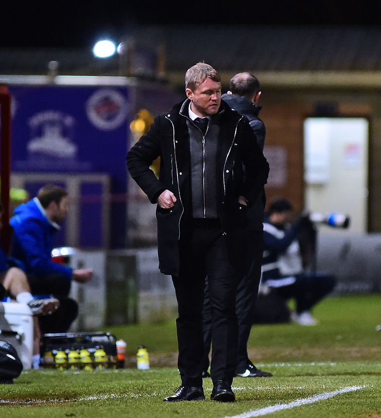 Peterborough United manager Grant McCann<br /> <br /> Photographer Andrew Vaughan/CameraSport<br /> <br /> The EFL Checkatrade Trophy Fourth Round - Lincoln City v Peterborough United - Tuesday 23rd January 2018 - Sincil Bank - Lincoln<br />  <br /> World Copyright &copy; 2018 CameraSport. All rights reserved. 43 Linden Ave. Countesthorpe. Leicester. England. LE8 5PG - Tel: +44 (0) 116 277 4147 - admin@camerasport.com - www.camerasport.com