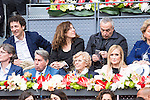 Manolo Santana, Madrid Mayor Manuela Carmena and president of the community, Cristina Cifuentes during  TPA Finals Mutua Madrid Open Tennis 2016 in Madrid, May 08, 2016. (ALTERPHOTOS/BorjaB.Hojas)