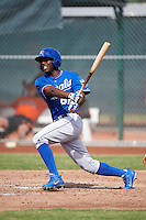 Kansas City Royals minor league outfielder Jerrell Allen #61 during an instructional league game against the San Francisco Giants at the Giants Baseball Complex on October 18, 2012 in Scottsdale, Arizona. (Mike Janes/Four Seam Images)