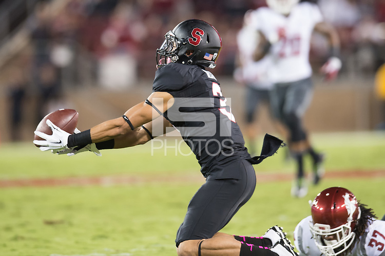 STANFORD, CA - October 10, 2014: The Stanford Cardinal vs Washington State Cougars game at Stanford Stadium in Stanford, CA. Final score, Stanford Cardinal 34, Washington State Cougars 17