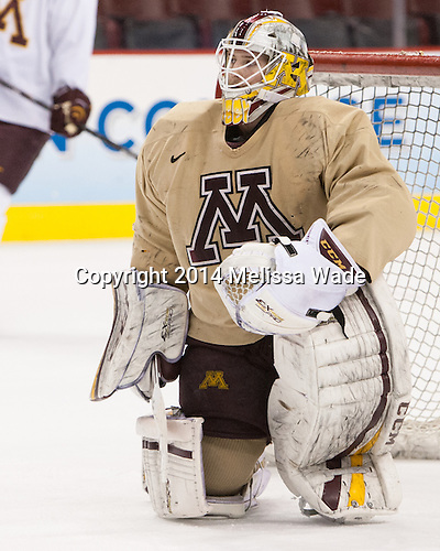 Michael Shibrowski (MN - 1) - The University of Minnesota Golden Gophers took part in a press conference and practice on Friday, April 11, 2014, during the 2014 Frozen Four at the Wells Fargo Center in Philadelphia, Pennsylvania.
