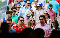 BALTIMORE, MD - MAY 20: Fans walk through the tunnel to reach the infield on Preakness Stakes Day at Pimlico Race Course on May 20, 2017 in Baltimore, Maryland.(Photo by Scott Serio/Eclipse Sportswire/Getty Images)