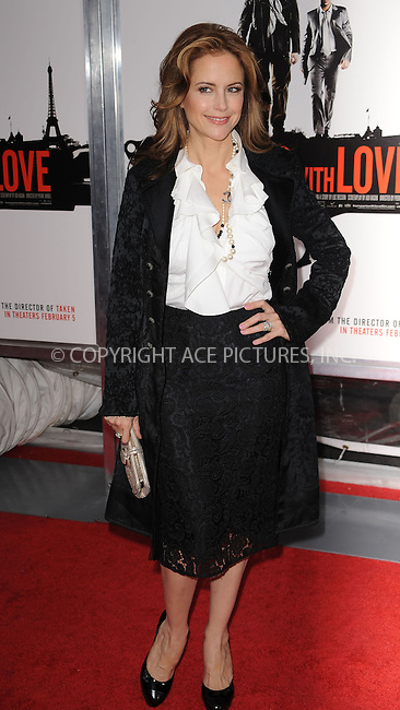WWW.ACEPIXS.COM . . . . . ....January 28 2010, New York City....Actor Kelly Preston arriving at the 'From Paris With Love' premiere at the Ziegfeld Theatre on January 28, 2010 in New York City. ....Please byline: KRISTIN CALLAHAN - ACEPIXS.COM.. . . . . . ..Ace Pictures, Inc:  ..(212) 243-8787 or (646) 679 0430..e-mail: picturedesk@acepixs.com..web: http://www.acepixs.com
