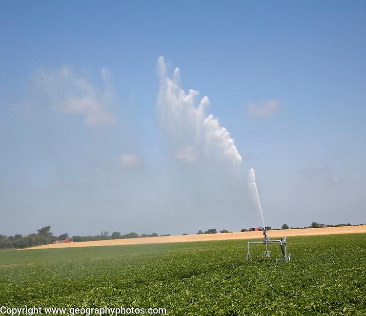 Irrigation sprayer, Sutton, Suffolk, England