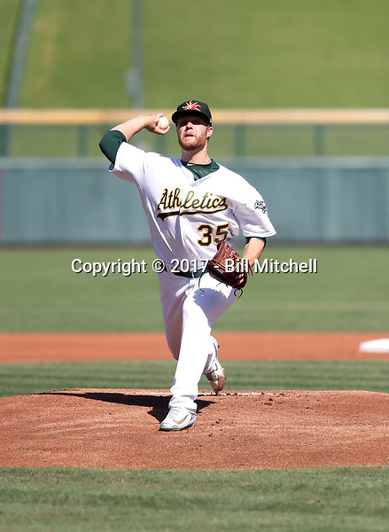 Logan Shore - Mesa Solar Sox - 2017 Arizona Fall League (Bill Mitchell)