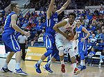 February 20, 2016 - Colorado Springs, Colorado, U.S. -   New Mexico forward, Tim Williams #32, drives for the basket during an NCAA basketball game between the University of New Mexico Lobos and the Air Force Academy Falcons at Clune Arena, United States Air Force Academy, Colorado Springs, Colorado.