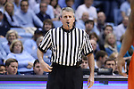 08 January 2014: Referee Bryan Kersey. The University of North Carolina Tar Heels played the University of Miami Hurricanes in an NCAA Division I Men's basketball game at the Dean E. Smith Center in Chapel Hill, North Carolina. Miami won the game 63-57.