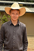 Photograph portrait of a young cowboy