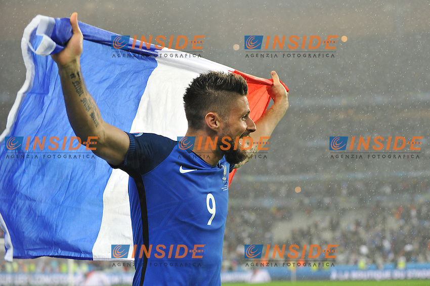 OLIVIER GIROUD (fra) Esultanza  celebration <br /> Paris 03-07-2016 Stade de France Football Euro2016 France - Iceland / Francia - Islanda Quarter finals <br /> Foto Philippe LECOEUR / Panoramic / Insidefoto