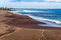 Bali, Badung, Seseh. Seseh is located north of Canggu and Kuta. The beach sand is darker here.