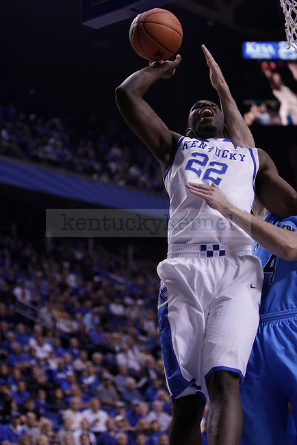 Freshman Forward Alex Poythress goes for a lay up during the first half of the University of Kentucky vs. Northwood Basketball exhibition game at Rupp Arean in Lexington, Ky., on, {November} {1}, {2012}. Photo by Jared Glover | Staff
