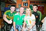 Fans l-r  Kieran Fitzgerald, Paul Holden, Michelle Lynch and Mark Looney. watching the EURO's Ireland v France at the Huddle Bar on Sunday