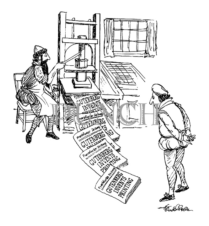 a paper on the impact of johannes gutenbergs invention of printing press The gutenberg bible was the first book printed in western europe using   according to one 1455 document, gutenberg's business partner johann fust  sued  he later started a second print shop, but it's unlikely that he ever.