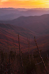 Receding ridges in autumn sunset, as viewed from Clingmans Dome