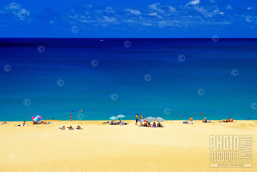 Sunset Beach. Located on Oahu's north shore, this famous beach is a favorite spot for sunworshipers and surfers alike.