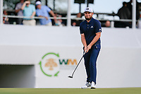 Tyrrell Hatton (ENG) on the 16th green during the 1st round of the Waste Management Phoenix Open, TPC Scottsdale, Scottsdale, Arisona, USA. 31/01/2019.<br /> Picture Fran Caffrey / Golffile.ie<br /> <br /> All photo usage must carry mandatory copyright credit (© Golffile | Fran Caffrey)