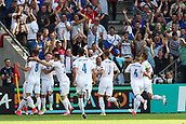 June 19th 2017, Kielce, Poland; UEFA European U-21 football championships, England versus Slovakia; Martin Chrien (SLO) goal  celebration