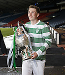 Celic Captain Regan Hendry with the Glasgow Cup