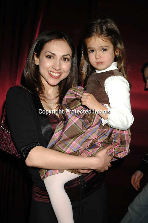Eden Riegel and Hayley Evans..at The All My Children Christmas party on December 8, 2006 at The ABC Studio...Robin Platzer, Twin Images
