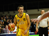 Taranaki forward Alex Wastney during the National basketball league match between the Wellington Saints  and Taranaki Mountainairs at TSB Bank Arena, Wellington, New Zealand onFriday, 9 April 2010. Photo: Dave Lintott / lintottphoto.co.nz