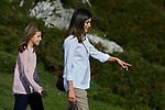 Princess Sofia of Spain and Queen Letizia of Spain visit the Enol lake in Asturias, Spain. September 08, 2018. (ALTERPHOTOS/A. Perez Meca)